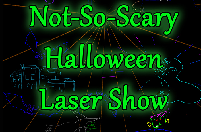 Not-So-Scary Halloween Laser Show